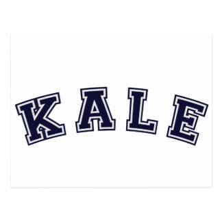 Kale: A Sporty Design for Veggie Lovers Postcard