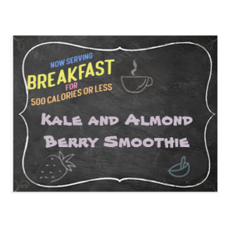 Kale and Almond Berry Smoothie Recipe Card