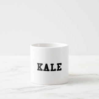 Kale College Font Funny Espresso Cup