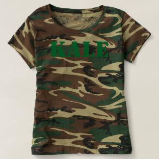 KALE Green Camouflage Ladies Short Sleeve T-Shirt
