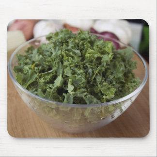 Kale in Glass Bowl Mousepad
