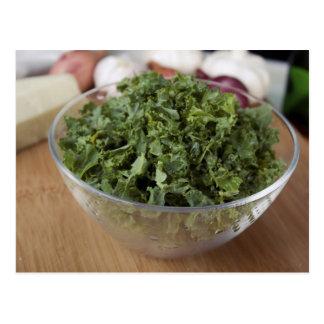Kale in Glass Bowl Postcard