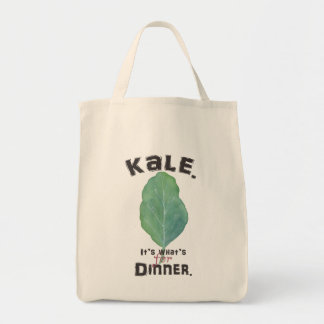 Kale. It's what's for dinner. Grocery Tote. Tote Bag