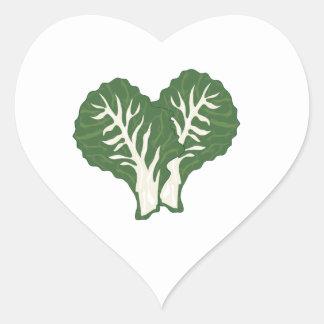 Kale Leaves Heart Sticker