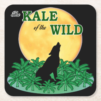 Kale of the Wild Square Paper Coaster