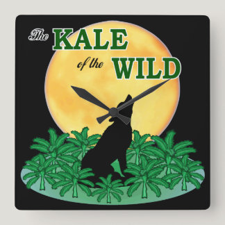 Kale of the Wild Square Wall Clock
