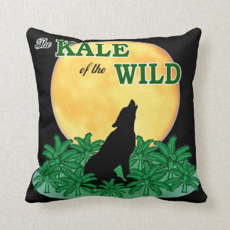 Kale of the Wild Throw Pillow