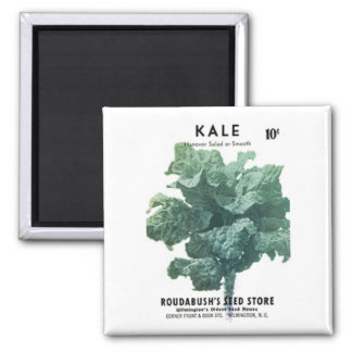 Kale, Roudabush's Seed Store 2 Inch Square Magnet