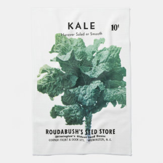 Kale Seed Packet Label Hand Towels