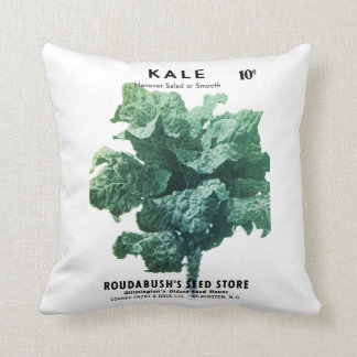 Kale Seed Packet Label Throw Pillow