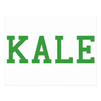 Kale University College Vegan Vegetarian Healthy Postcard