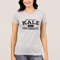 Kale University Vegan Vegetarian T-Shirt