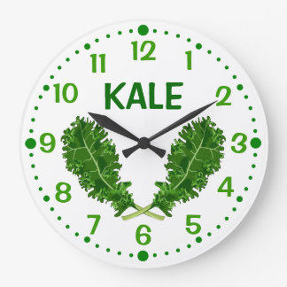 Kale Vegetable Green Leaves Kitchen Clock w/ Mins