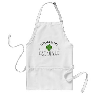 Kale Vegetarian Live Breathe Eat Kale Custom Adult Apron