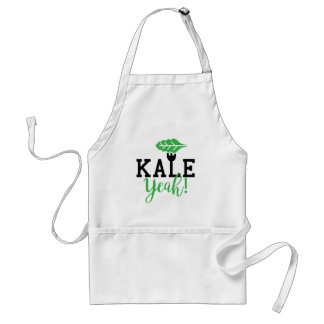 Kale Yeah Funny Vegan Design Adult Apron