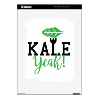 Kale Yeah Funny Vegan Design Decal For iPad 2