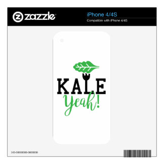 Kale Yeah Funny Vegan Design iPhone 4 Skin