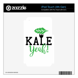 Kale Yeah Funny Vegan Design iPod Touch 4G Decals