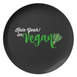 Kale Yeah! Im VEGAN Melamine Plate