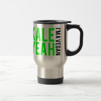 kale yeah i'm vegan. travel mug