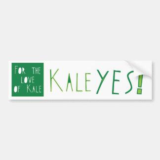 Kale Yes Bumper Sticker Car Bumper Sticker