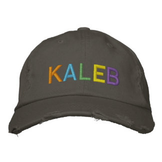 KALEB Colorful Embroidered Name on Hat