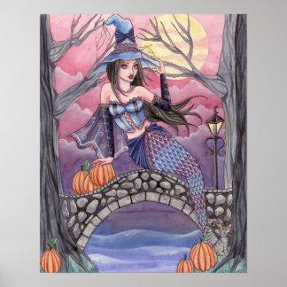 Kalei - poster de la sirena de Halloween Póster