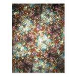 Kaleidescope Bejeweled para febrero Tarjetas Postales