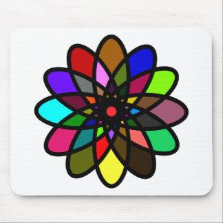 Kaleidescope Starburst, Multi-Color Mouse Pad