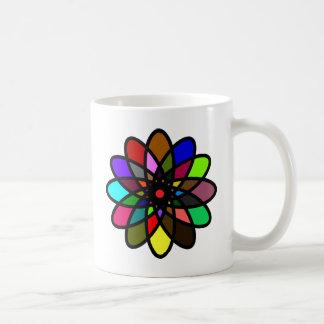 Kaleidescope Starburst, Multi-Color Coffee Mugs