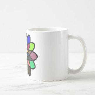 Kaleidescope Starburst, Multi-Color Coffee Mug
