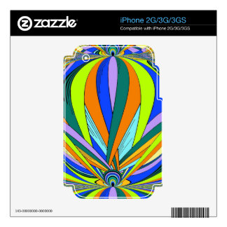 Kaleidescope styled product skin for iPhone 3G