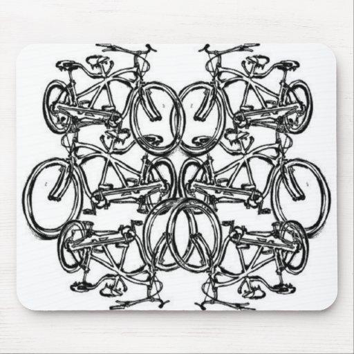 Kaleidescopic Tandem Bicycle (Vintage Schwinn) Mousepad