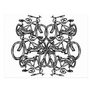 Kaleidescopic Tandem Bicycle (Vintage Schwinn) Postcard