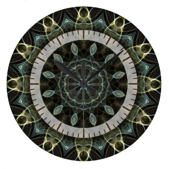 kaleido1 verde y azul lanoso reloj redondo grande