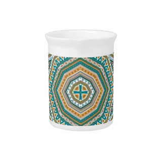 kaleido art mixed stripes pitcher