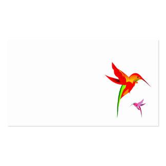 kaleido colorido de los colibríes tarjetas de visita