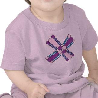 kaleidoflower purple & pink Baby t T Shirts