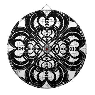 Kaleidoheart Graphic Design Pattern Dartboard With Darts