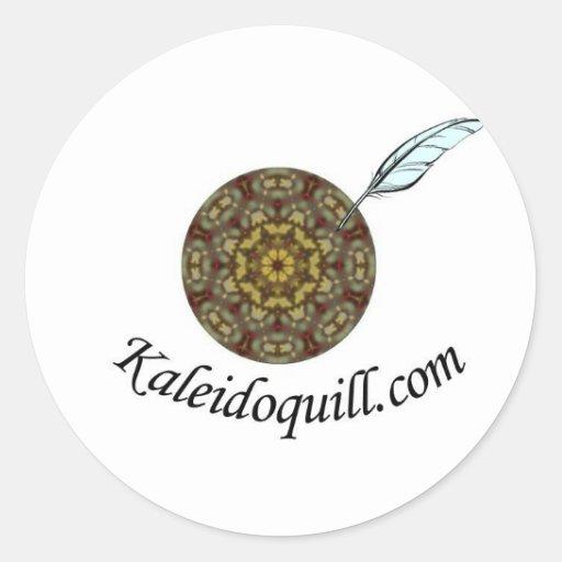 Kaleidoquill.com Pegatina Redonda