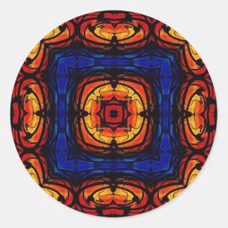 Kaleidoscope 001 classic round sticker