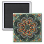 Kaleidoscope 118  Magnet 2 Inch Square Magnet