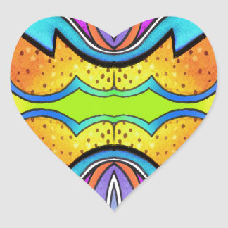KALEIDOSCOPE 1 HEART STICKER