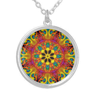 Kaleidoscope 1 silver plated necklace