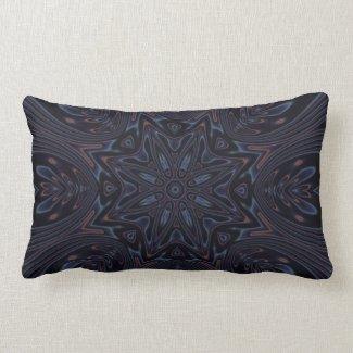 Kaleidoscope 2 (black) abstract Pillows mojo_throwpillow