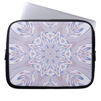 Kaleidoscope 2 lavender mandala abstract computer sleeves