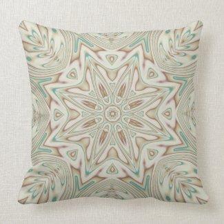 Kaleidoscope 2 (tan) abstract Pillows mojo_throwpillow