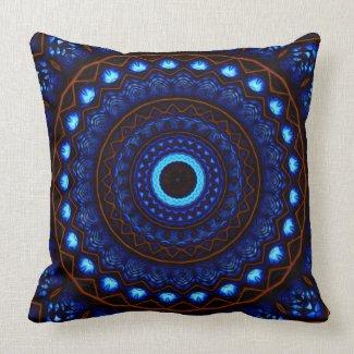 Kaleidoscope 4 abstract (blue) Pillows mojo_throwpillow