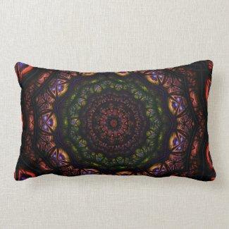 Kaleidoscope 5 (maroon) Pillows mojo_throwpillow