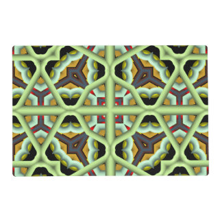 Kaleidoscope Abstract Multicolored Pattern Placemat